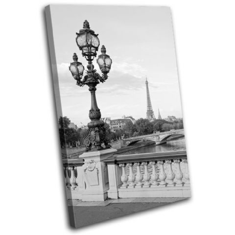 Paris Landscape Black White City - 13-0107(00B)-SG32-PO
